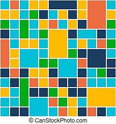 Squares Color Background. Template Flat Design Style. Vector