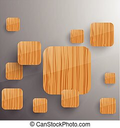 Squares Concept Vector Illustration. Woode theme.