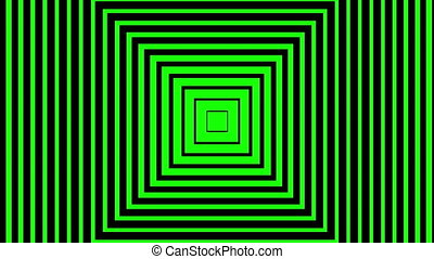 squares moving on green background - Digitally generated ...