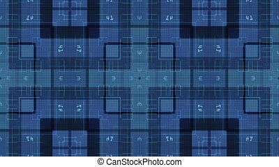 Squares on dark background