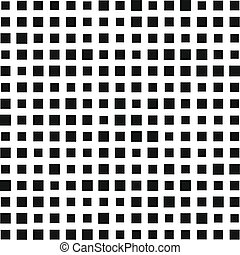 Squares Pattern. Black and White Background. Vector