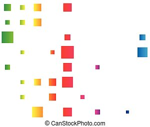 squares pixelated, block pixels random mosaic pattern / ...
