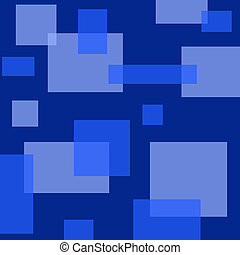 Squares & Rectangles - Blue toned background