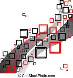 squares retro pattern, abstract vector art illustration