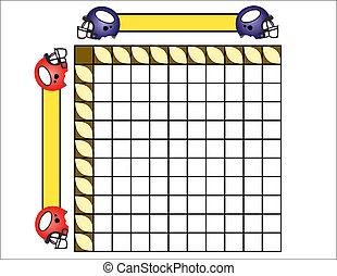 Squares - Sheet for playing footbal squares