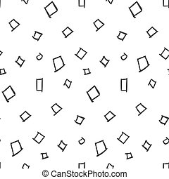 Squares Simple Seamless Pattern on White Background