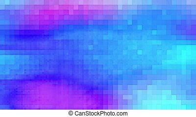 Squares squared in blue loop