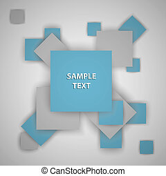 Squares vector illustration with a place for your text. It is possible to use for your business.