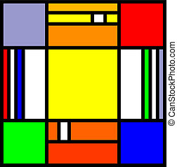 squares - vector of a colorful modern art abstract...