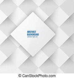 squares., vettore, backround, astratto, bianco