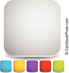 Squares with rounded corners. Empty backgrounds, icons, button, vector.