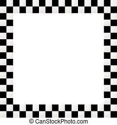squarish, a cuadros, frontera, marco vacío