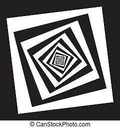 squars, negro, perspectivas, vrious, espiral