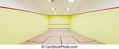 Squash court - Panorama shot for an Empty squash court