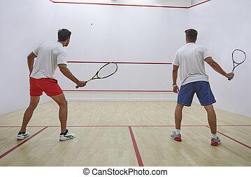 Squash demands great focus and endurance
