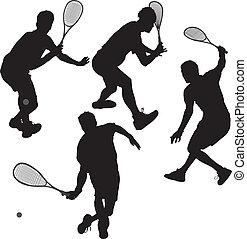 squash, jogadores