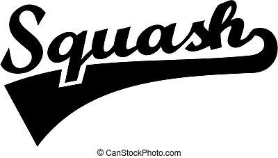squash, palavra, retro
