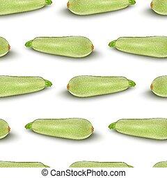 Squash vegetable marrow zucchini isolated on white