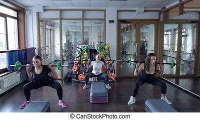 squat, 肩。, クラブ, 遊ぶこと, 3, バーベル, 運動選手, あなたの