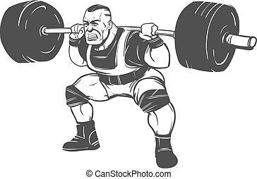 squat, powerlifting, homem