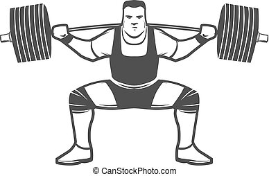 squat powerlifting logo - powerlifting squat figure on...