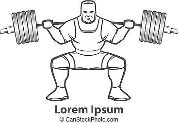 squat powerlifting logo