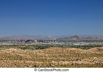 Squaw Peak and Downtown Phoenix, Arizona