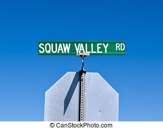 Squaw Valley Road Sign