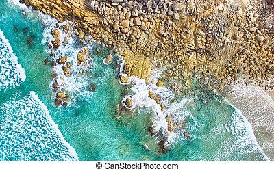 Squeaky Beach aerial view, Wilsons Promontory.