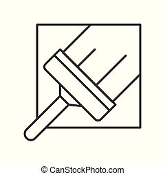 squeegee, cleaning service related, outline icon.