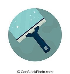 Squeegee, scraper, wiper.vector illustration - Squeegee,...