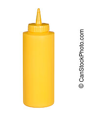 Squeeze bottle of mustard