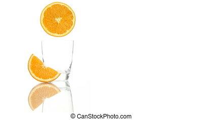 squeezed orange juice poured glass - squeezed orange juice...