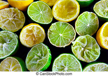 squeezed out lemon