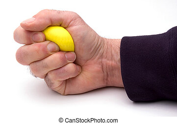 Stress Ball - Squeezing A Stress Ball, Ready For Taking...