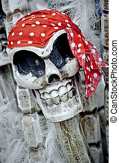 squelette, halloween, pirate, image