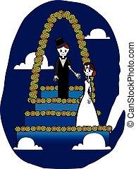 squelette, mariage