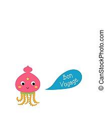 squid bon voyage card