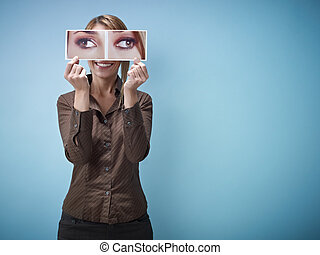squint-eyes, businesswoman, groot