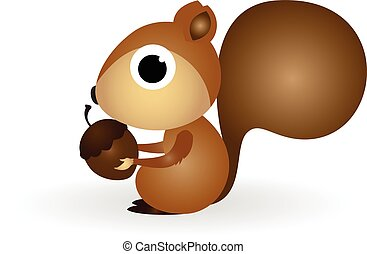 Squirrel cartoon - brown