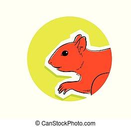 Squirrel Face Closeup Vector