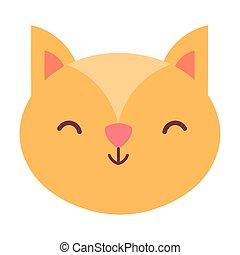 squirrel head animal cartoon design icon