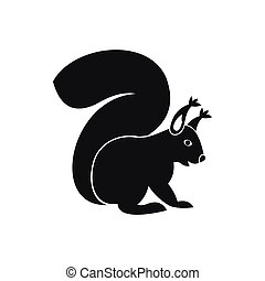 Squirrel icon in simple style