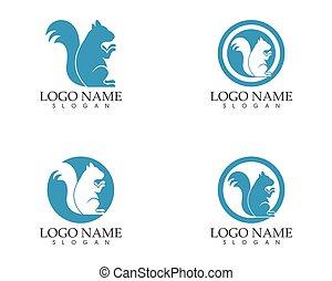Squirrel icon sign logo