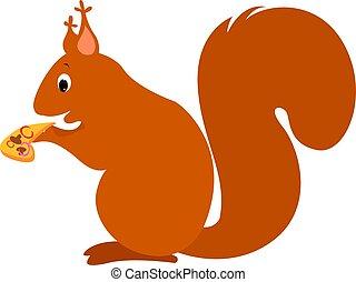 Squirrel, illustration, vector on white background.