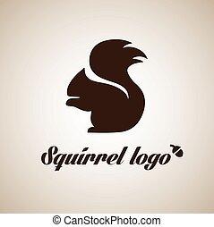 squirrel logo 4 - squirrel logo concept designed in a simple...
