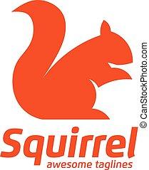 Squirrel Logo Template Design