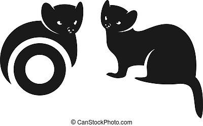 Squirrel silhouette animal logo design