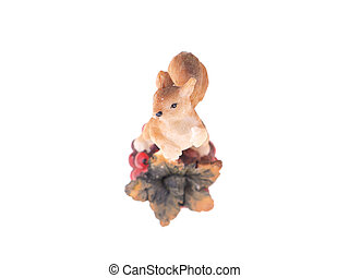 squirrel toy on a white background