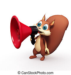 Squirrel with loudspeaker